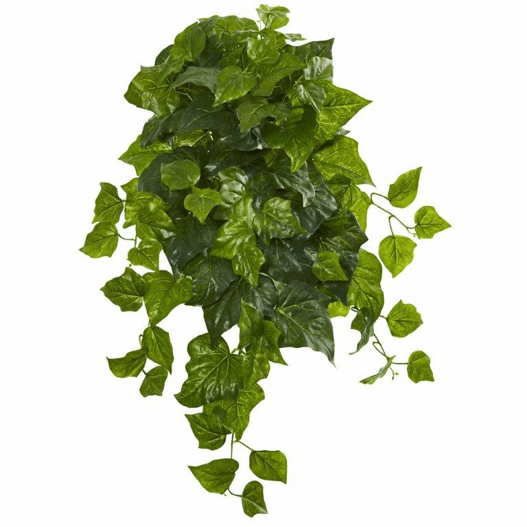 28� Deluxe London Ivy Hanging Bush Artificial Plant (Set of 3) (Real Touch)