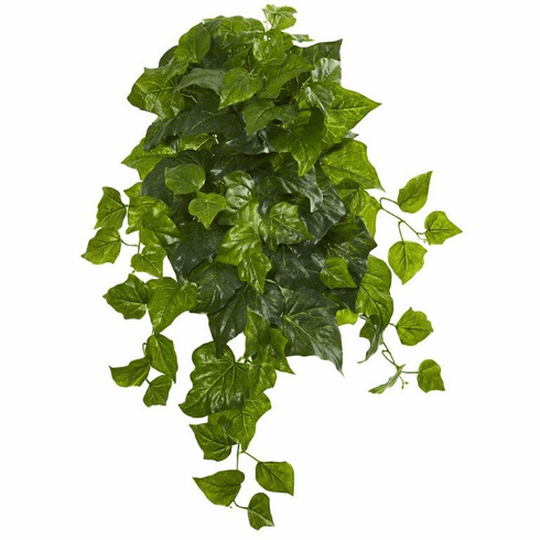 """28"""" Deluxe London Ivy Hanging Bush Artificial Plant (Set of 3) (Real Touch)"""