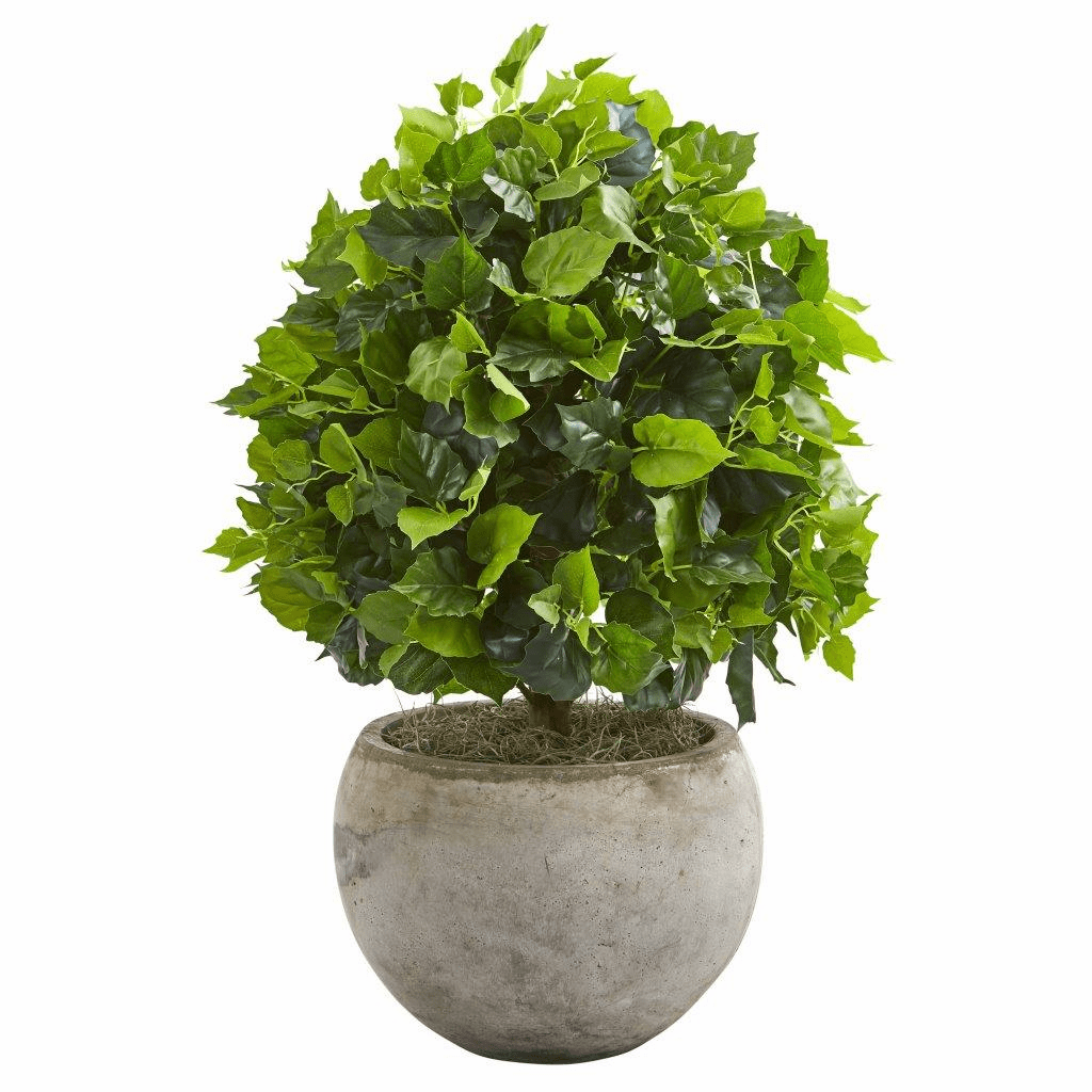 28� Ficus Artificial Tree in Bowl Planter