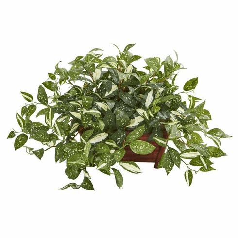 "28"" Florida Beauty Artificial Plant in Rectangular Planter"