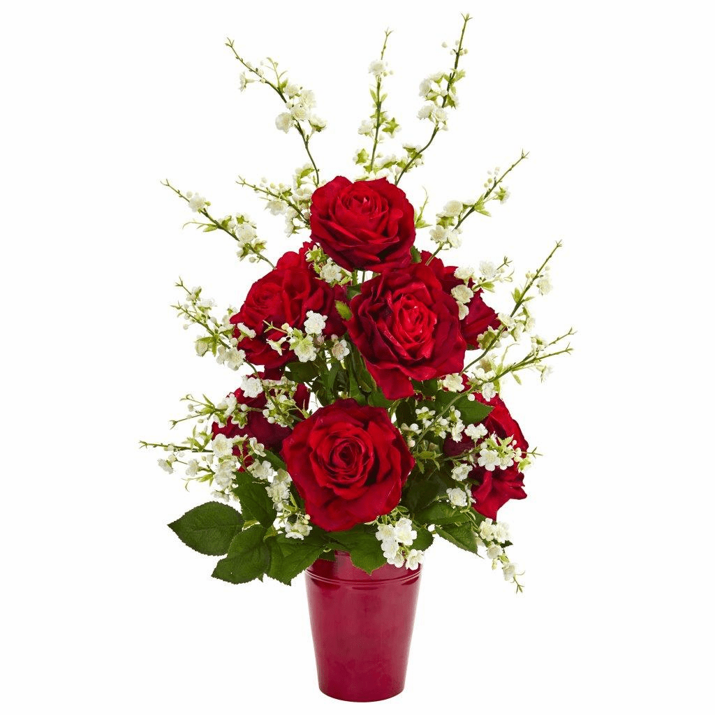 28� Rose and Cherry Blossom Artificial Arrangement