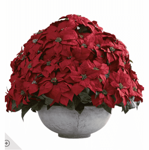 "29.75"" Giant Poinsettia Arrangement with Decorative Planter"