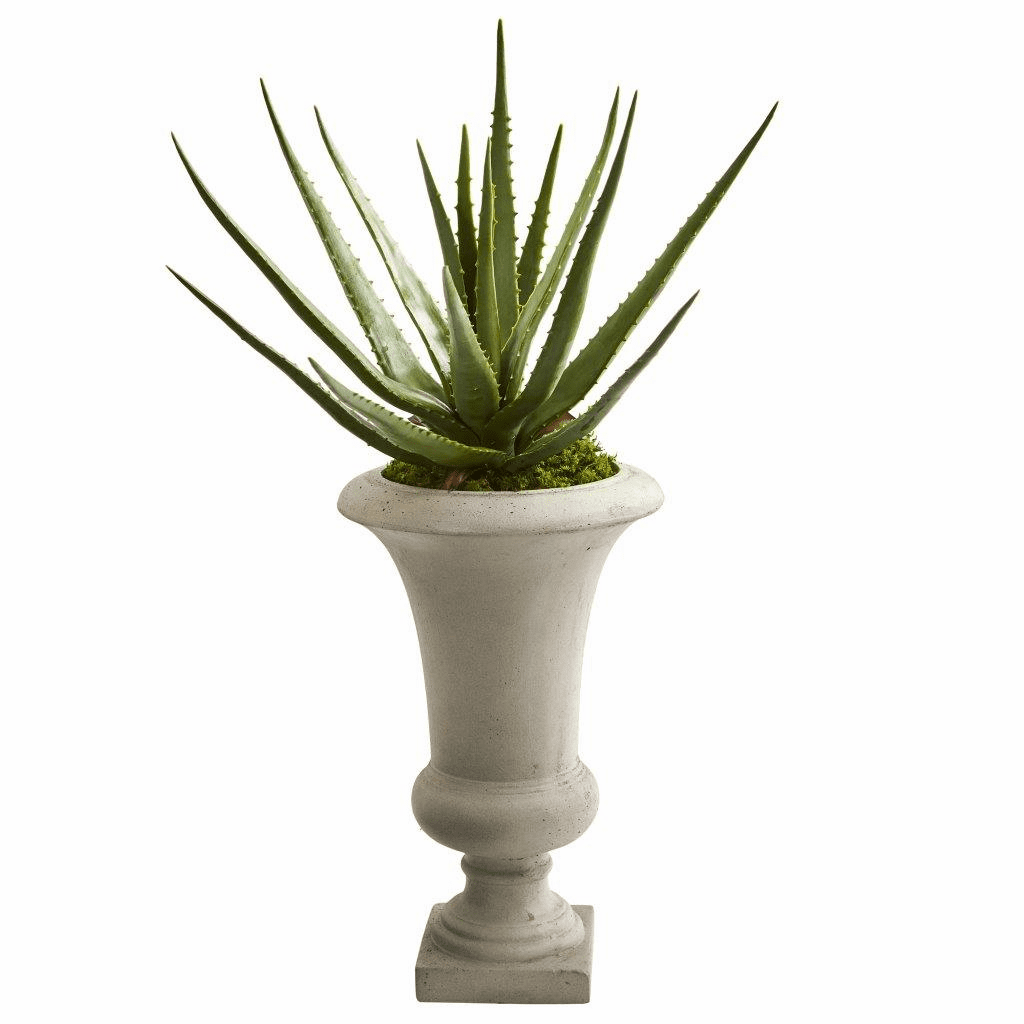 29� Aloe Artificial Plant in Urn