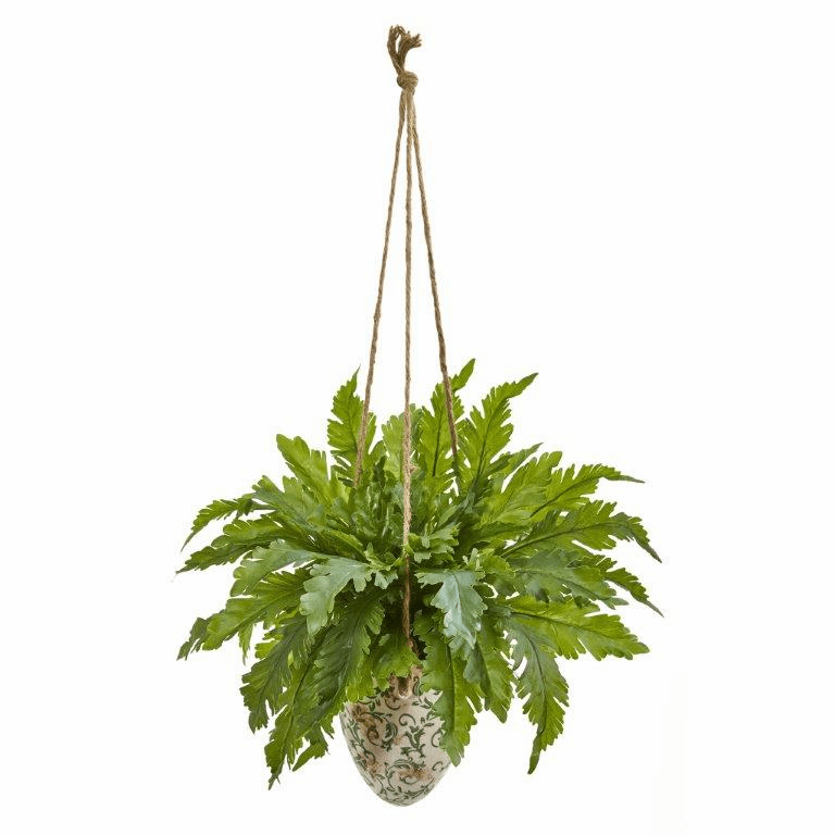 29� Fern Artificial Plant in Hanging Vase