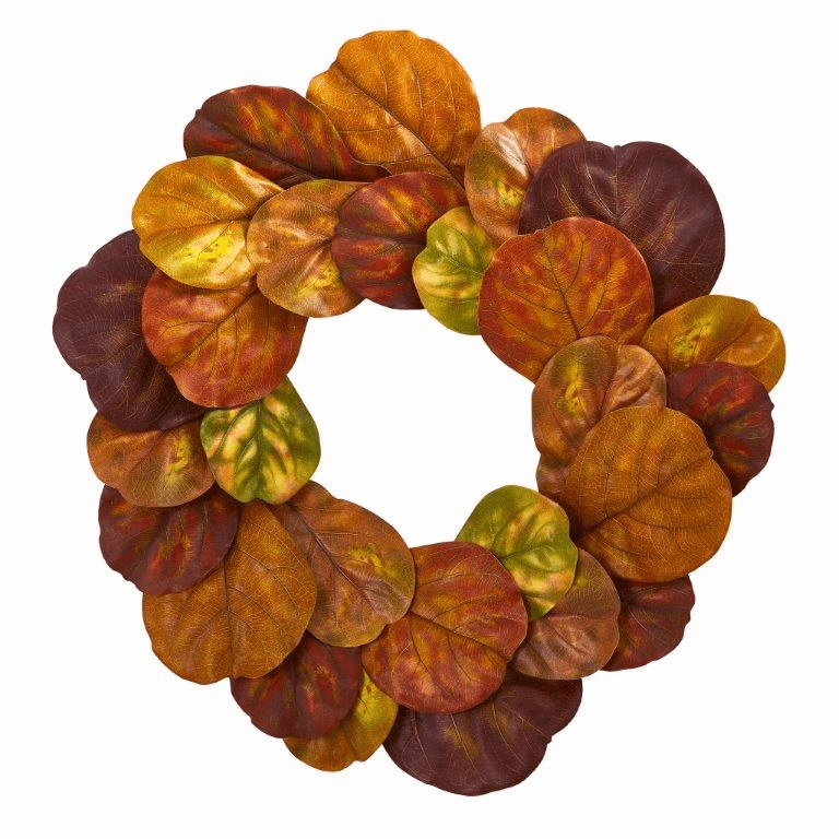 29� Fiddle Leaf Artificial Wreath