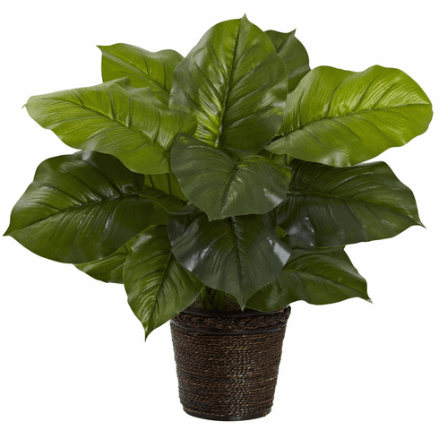 """29"""" Large Leaf Philodendron Silk Plant (Real Touch)"""