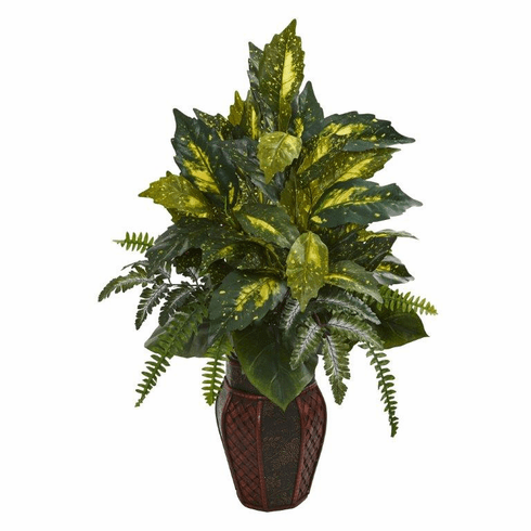 """29"""" Mixed Greens Artificial Plant in Decorative Planter"""