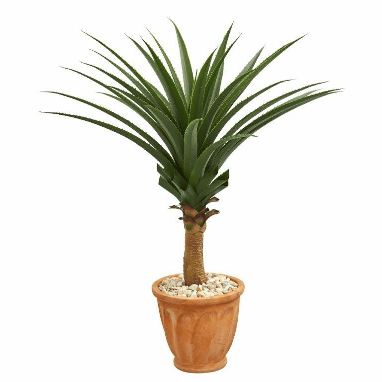 3.5' Agave Artificial Plant in Terra Cotta Planter