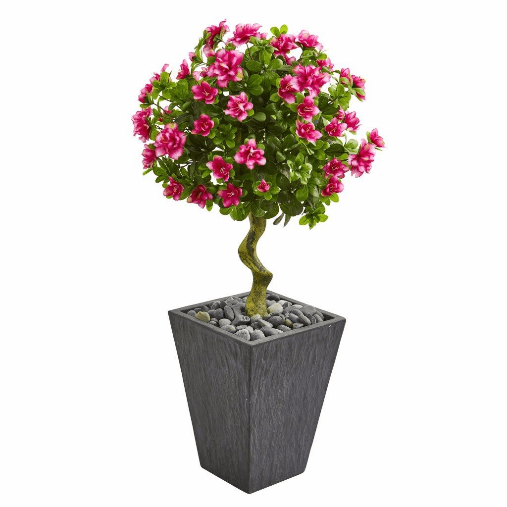 3.5� Azalea Artificial Topiary Tree in Slate Finished Planter