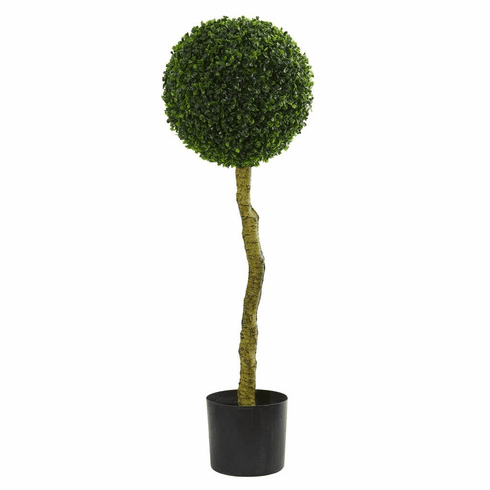 3.5' Boxwood Artificial Topiary Tree UV Resistant (Indoor/Outdoor)