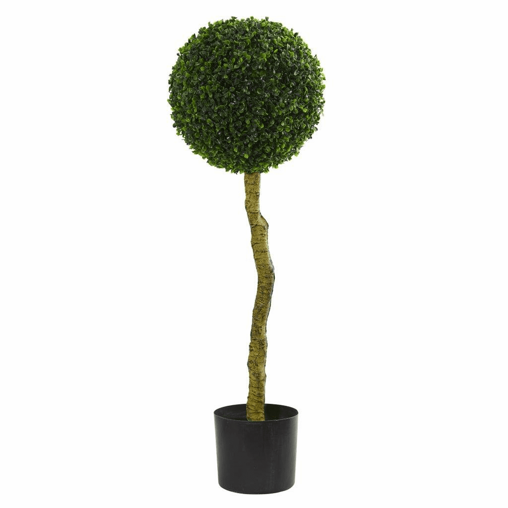 3.5� Boxwood Artificial Topiary Tree UV Resistant (Indoor/Outdoor)