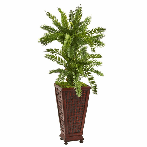 3.5' Double Cycas Artificial Plant in Decorative Planter
