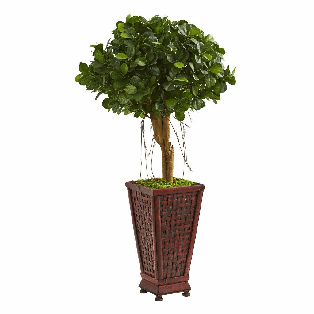 3.5� Ficus Artificial Tree in Classic Decorative Planter