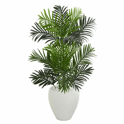 3.5' Paradise Palm Artificial Tree in White Planter