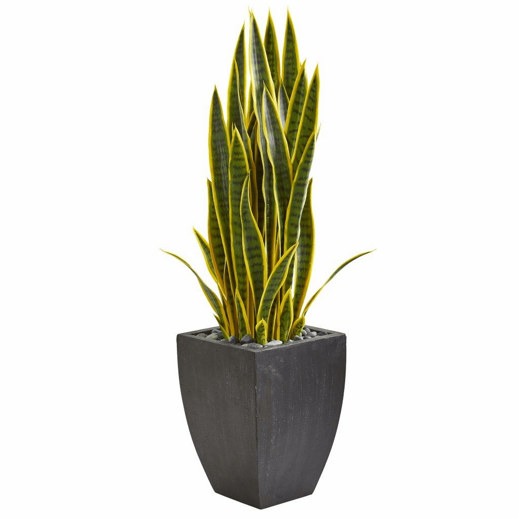 3.5� Sansevieria Artificial Plant in Black Planter