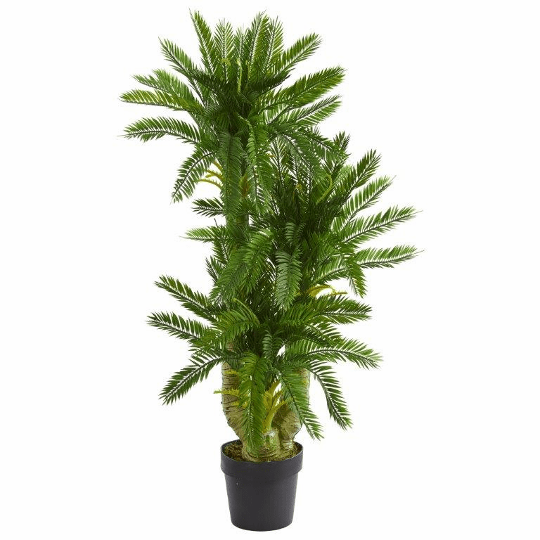 3.5' Triple Potted Cycas Artificial Plant