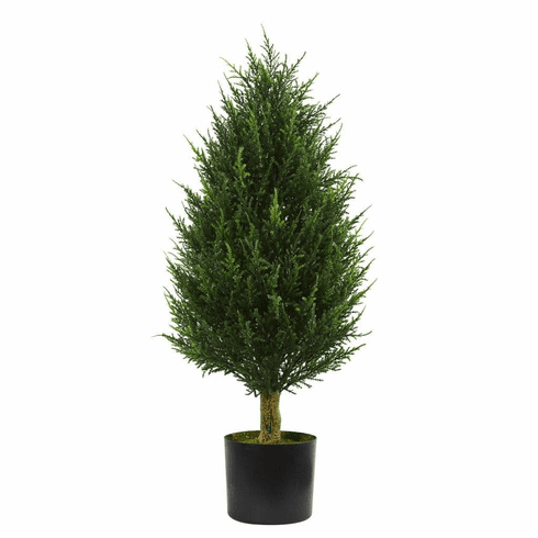 3' Cypress Tower Artificial Tree UV Resistant (Indoor/Outdoor)