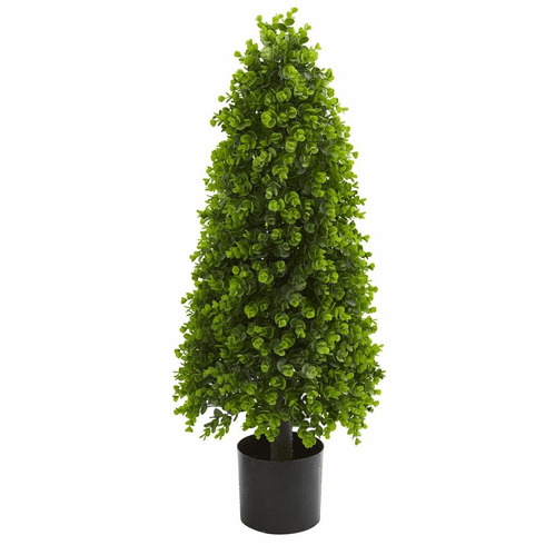 3' Eucalyptus Topiary Artificial Tree (Indoor/Outdoor)