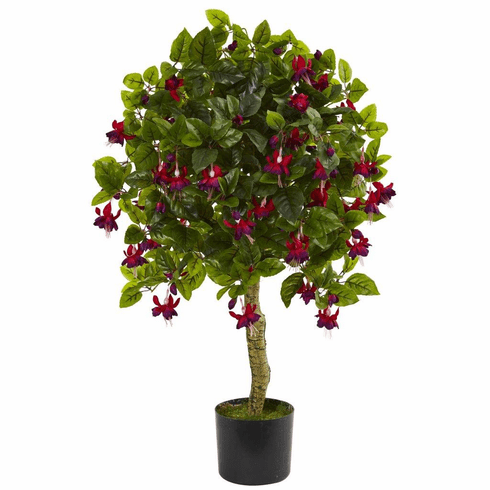 3' Fuchsia Artificial Tree