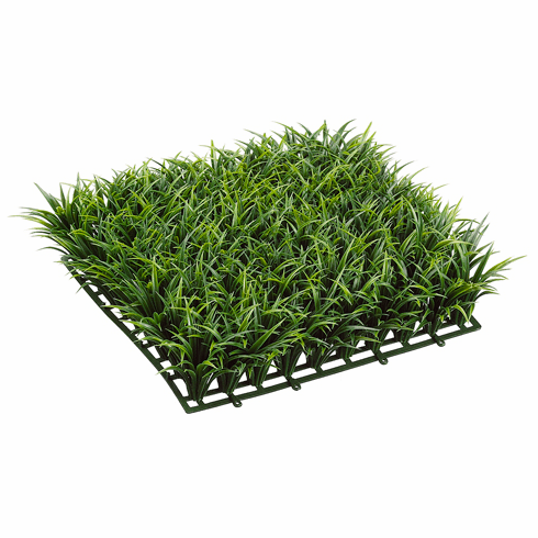 "3"" H Artificial Curly Grass Mat  - Set of 6"
