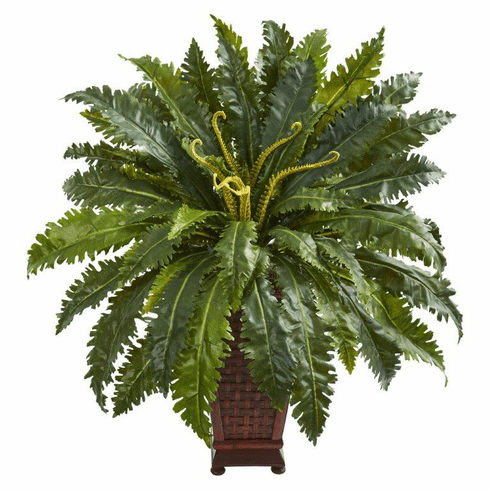 3' Marginatum Artificial Plant in Decorative Planter