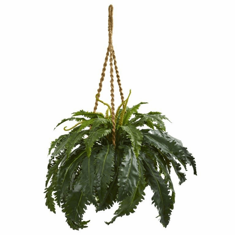 3' Marginatum Artificial Plant in Hanging Basket
