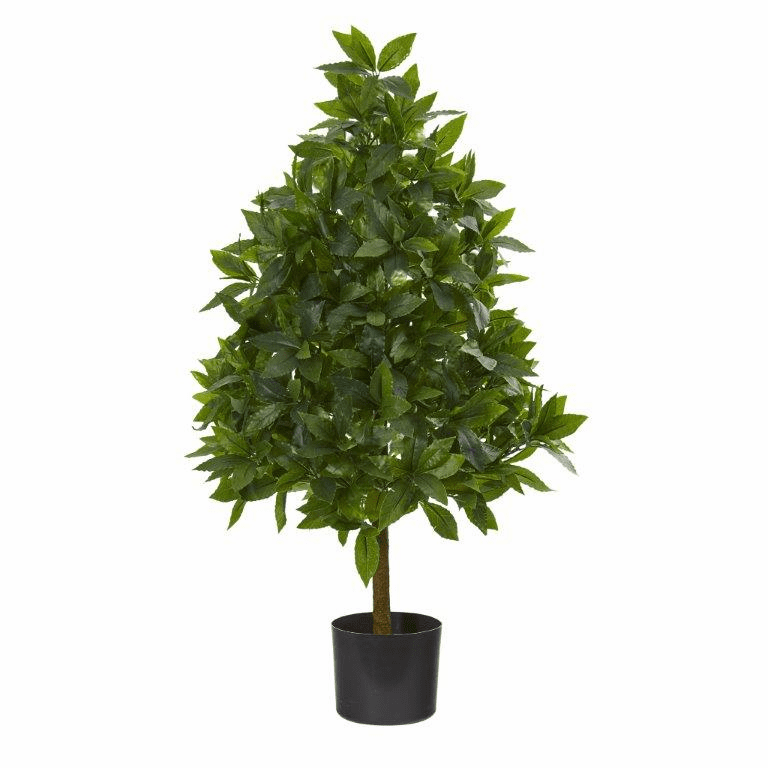 3� Sweet Bay Cone Topiary Artificial Tree