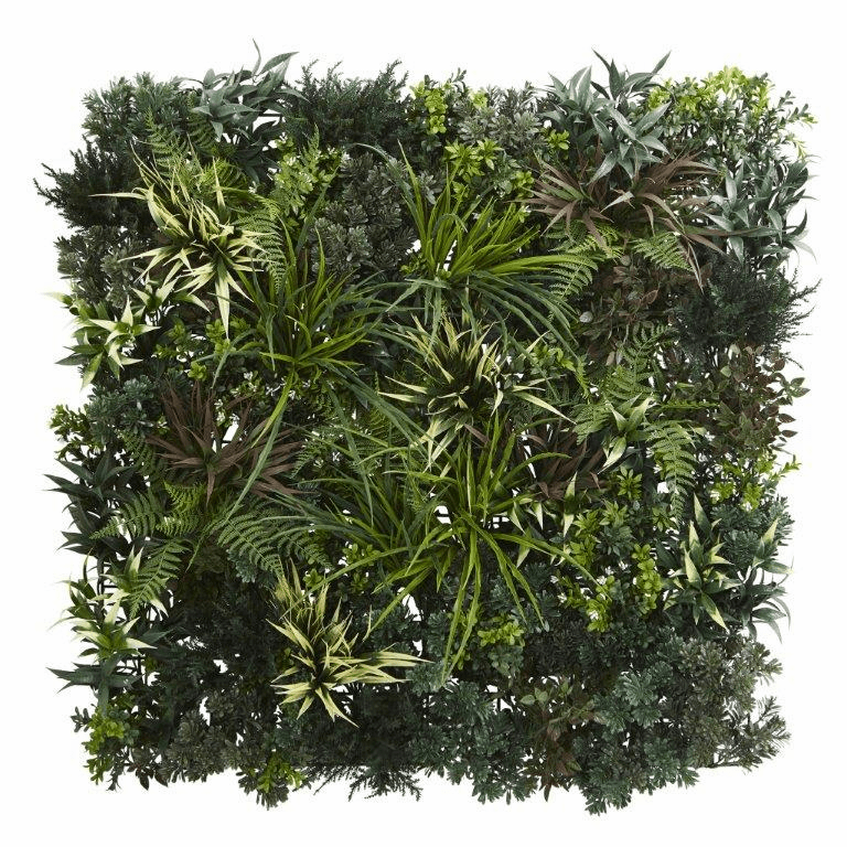 3� x 3� Greens & Fern Artificial Living Wall UV Resist (Indoor/Outdoor)