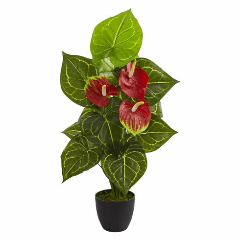 "30"" Anthurium Artificial Plant (Real Touch)"