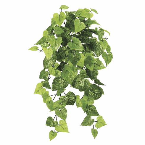 "30"" Artificial Potato Leaf Silk Hanging Bush with 101 Leaves - Set of 6"
