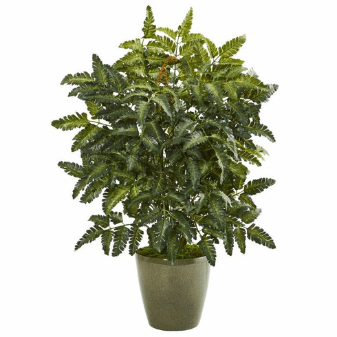 "30"" Bracken Fern Artificial Plant in Green Planter"