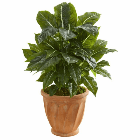 "30"" Evergreen Artificial Plant in Terracotta Planter (Real Touch)"