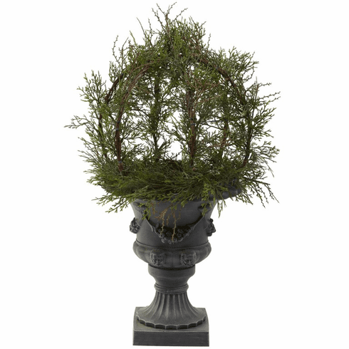 "30"" Pond Cypress Topiary with Urn (Indoor/OutDoor)"
