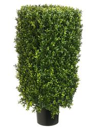 """30"""" Rectangular Artificial Boxwood Topiary Plant in Pot"""