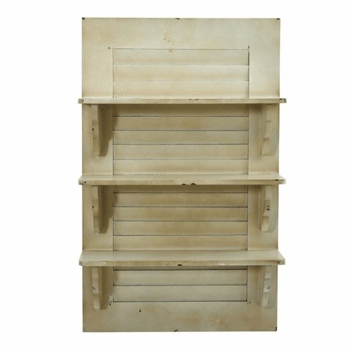 "31.75"" Vintage Window Shutter Shelving Wall Decor -"