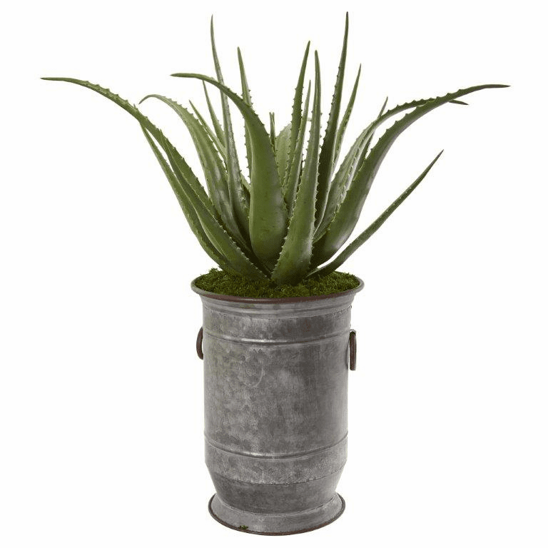 31� Aloe Artificial Plant in Metal Planter