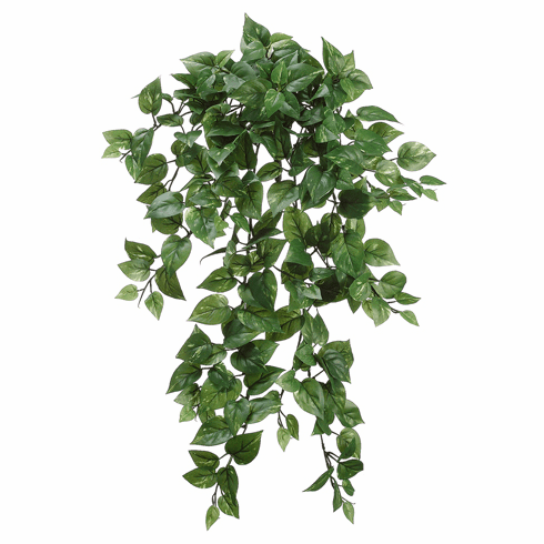 """31"""" Artificial Medium Pothos Hanging Bush with 262 Leaves - Set of 6"""