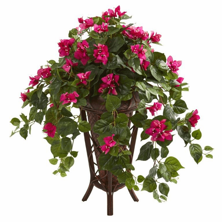"31"" Bougainvillea Artificial Plant in Stand Planter - Beauty"