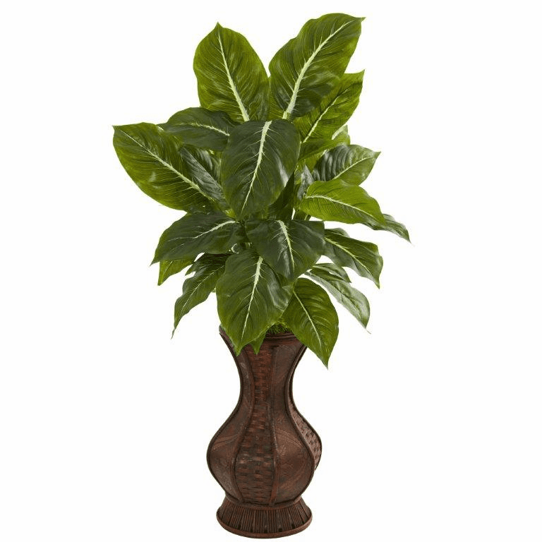 31� Evergreen Artificial Plant in Decorative Planter (Real Touch)