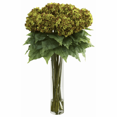 "31"" Hydrangea with Cylinder Silk Flower Arrangement"