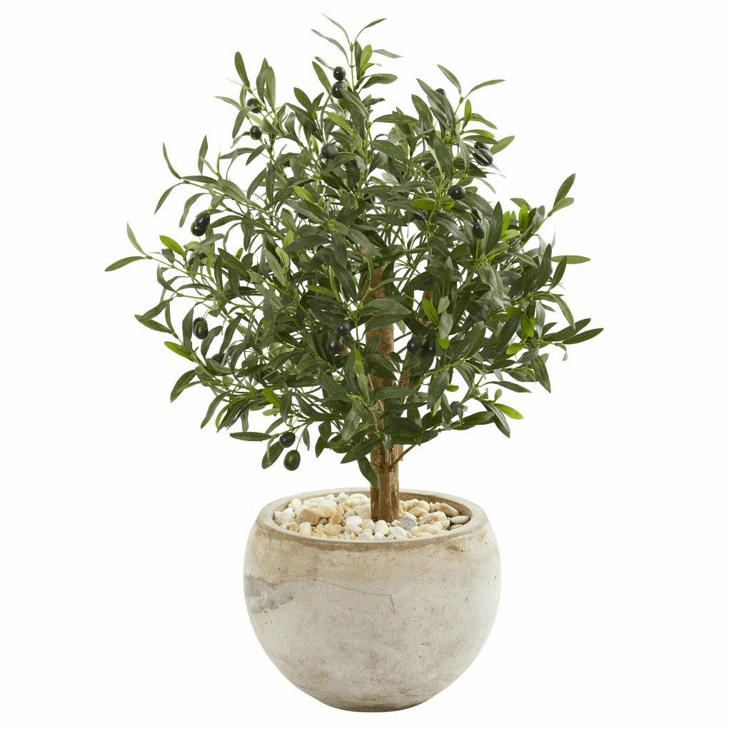 31� Olive Artificial Tree in Bowl Planter