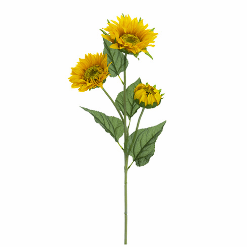 "32"" Artificial Sunflower Spray - Set of 12 Silk Flowers"