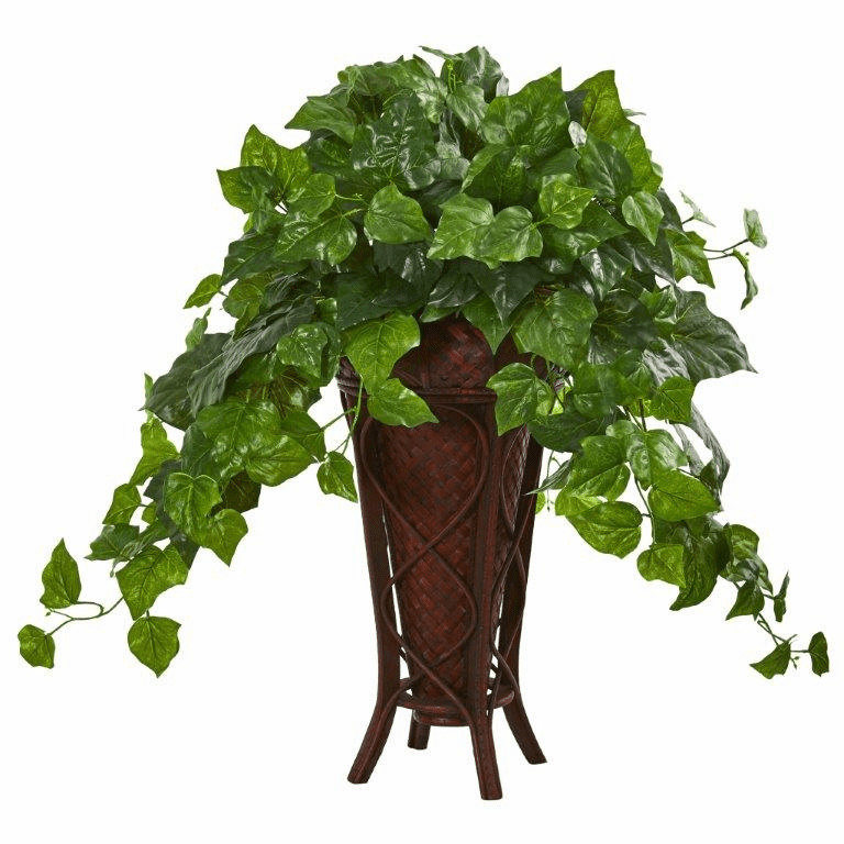 32� London Ivy Artificial Plant in Decorative Planter (Real Touch)