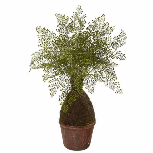 "32"" Maiden Hair Fern Artificial Plant in Decorative Planter"