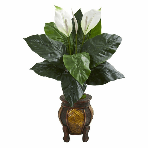 "32"" Spathifyllum Artificial Plant in Decorative Planter"