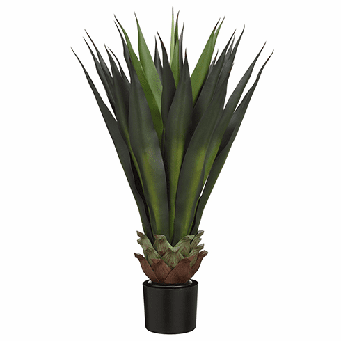 "33""Artificial Agave Plant in Black Pot - Set of 2"