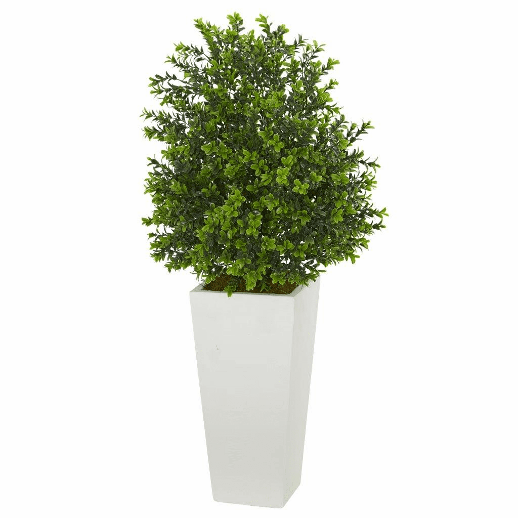 "33"" Sweet Grass Artificial Plant in White Tower Planter (Indoor/Outdoor)"