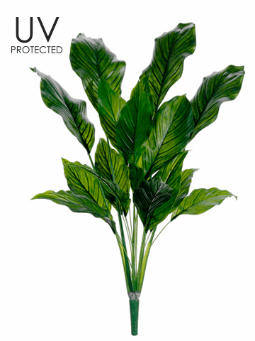 "33"" UV Plastic Spathiphyllum Artificial Plant - Set of 4"