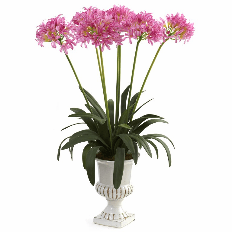 "34"" African Lily Artificial Flower Arrangement with Urn - Pink"