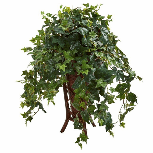 "34"" Ivy Artificial Plant in Stand Planter"